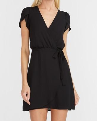 Express Tulip Sleeve Wrap Dress