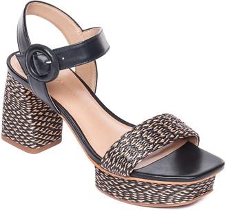 Bernardo Regan Raffia Platform Sandal