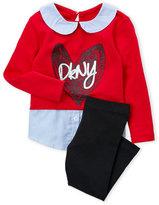 DKNY Infant Girls) Two-Piece Sweater Shirt & Leggings Set