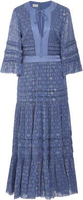 Temperley London Suki Bell-Sleeve Chiffon Midi Dress