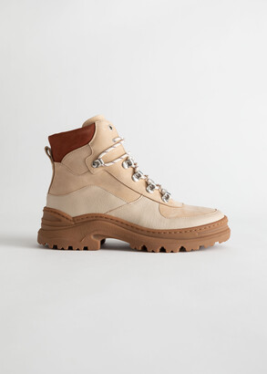 And other stories Chunky Platform Hiking Boots