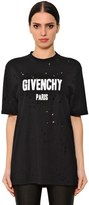 Givenchy Oversized Destroyed Jersey T-Shirt