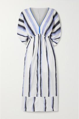 Lemlem Tigist Cotton-gauze Midi Dress - White