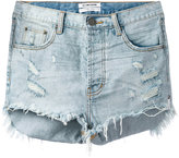 One Teaspoon frayed denim shorts - women - Cotton - 27