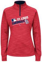 Majestic Women's St. Louis Cardinals AC Quarter-Zip Pullover Shirt