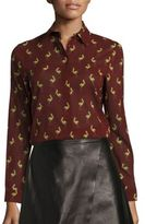 Alice + Olivia Willa Printed Blouse