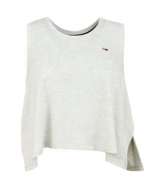 Tommy Jeans Side Detail Logo Tank Top Colour: GREY HEATHER, Size: SMAL