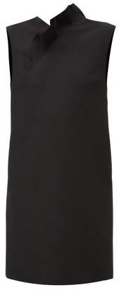 MSGM Ruffled Crepe Mini Dress - Black