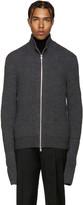 Maison Margiela Grey Zip-Up Sweater