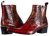Jeffery West Double Metal Zip Boot Sylvian (Red) Men's Shoes