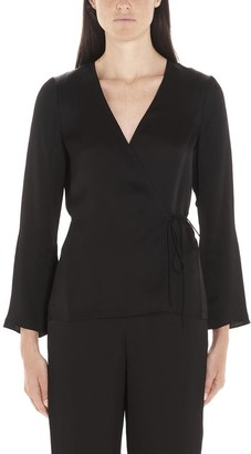 Theory V Neck Wrap Jacket