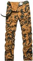 URBANFIND Men's Regular Fit Camouflage Multi Pockets Outdoor Cargo Pants