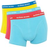 Bjorn Borg 3 Pack Of Bright Contrast Waist Trunks