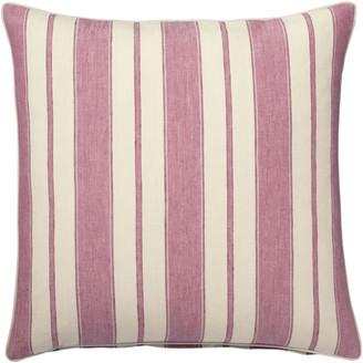 OKA Stringa Stripe Linen Cushion Cover, Large - Washed Rose