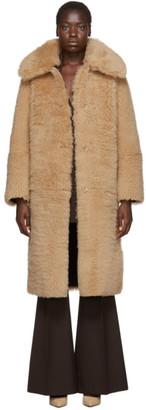 Joseph Reversible Beige Shearling Darcy Coat
