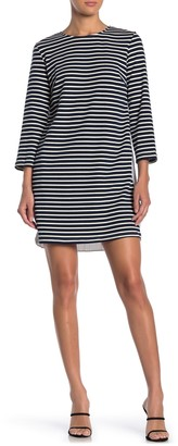 ENGLISH FACTORY Stripe Pleat Back Dress