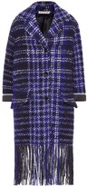 Marni Fringed tweed coat