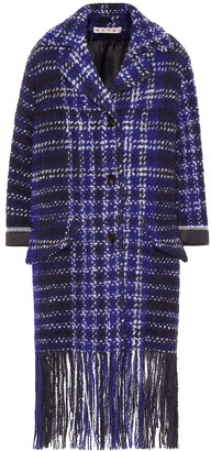 Marni Fringed tweed coat