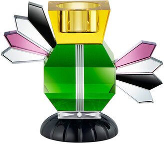 Reflections Copenhagen Metropolitan Crystal Tealight Holder - Green/Yellow