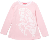 E-Land Kids Pink Graphic Horse Tee - Girls