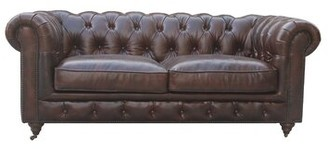 "Deshazo Leather Chesterfield 72"" Rolled Arms Sofa 17 Stories"