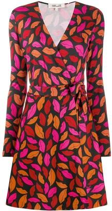 Dvf Diane Von Furstenberg Mini Silk Wrap Dress