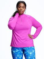 Old Navy Go-Dry Cool Plus-Size Reflective 1/4-Zip Pullover