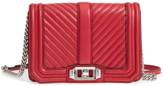 Rebecca Minkoff Chevron Love Quilted Small Leather Crossbody