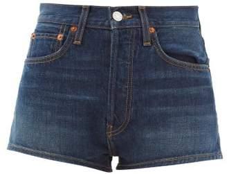 Solid & Striped X Re/done High Rise Denim Shorts - Womens - Denim