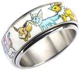 Pokemon Eevee Evolution stainless Steel Spinner Ring Size 8