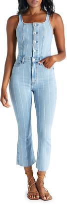 ÉTICA Ivy Striped Denim Overalls