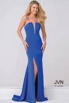 Jovani Plunging Neckline High Slit Prom Dress JVN49580
