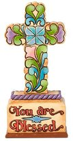 """Disney Jim Shore """"You Are Blessed"""" Cross Figurine 5""""H"""