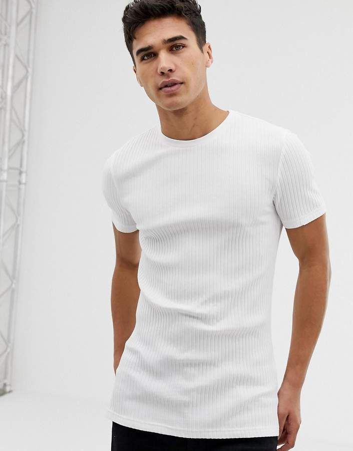 0abb3f294 Asos White Fitted Men's Shirts - ShopStyle