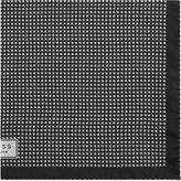 Reiss Reiss Hund - Silk Patterned Pocket Square In Black