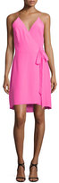 Amanda Uprichard Alex Sleeveless Wrap Dress, Pink Lacquer