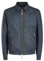 Stefano Ricci Printed Silk Reversible Blouson Jacket