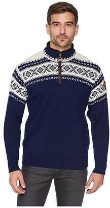 Dale of Norway Cortina 1/2 Zip Sweater (C-Light Navy/Off-White) Men's Sweater