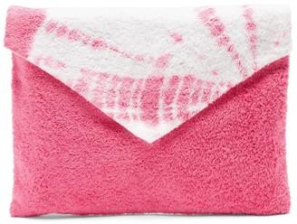 Kilometre Paris - Tie-dye Cotton-terry Envelope Pouch - Pink Multi