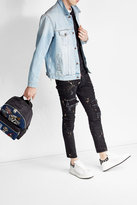Dolce & Gabbana Denim Backpack with Patches