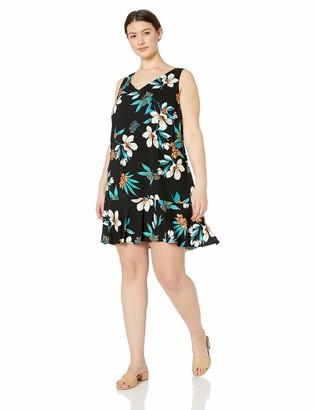 Karen Kane Women's Plus Size Ruffle Hem Dress