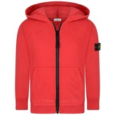 Stone Island Stone IslandBoys Red Hooded Zip Up Top