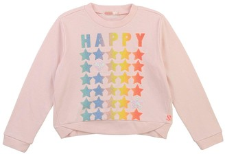 Billieblush Girls Shimmer Star Sweatshirt - Pale Pink