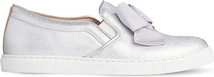 LK Bennett Beca bow-embellished leather skate shoes