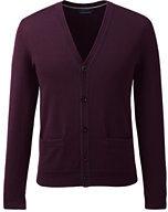 Classic Men's Supima Cotton Tipped Cardigan Sweater-Rich Pine