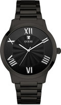 GUESS Men's Diamond Accent Black Ion-Plated Stainless Steel Bracelet Watch 43mm U0694G3