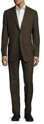 Canali Venezia Modern Fit Solid Wool Suit