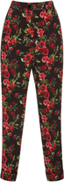 Dolce & Gabbana High Waisted Floral Trousers