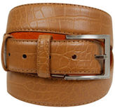 Yours Clothing BadRhino Mens Accessories Plus Size Tan Textured Leather Belt Solid Metal Buckle