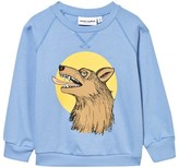Mini Rodini Light Blue Wolf Print Sweatshirt